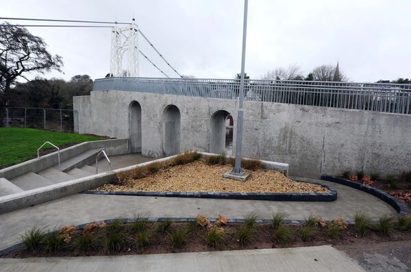 A new area adjacent to the repaired and refurbished Daly's Bridge (Shakey Bridge) in Cork. Picture: Denis Minihane.