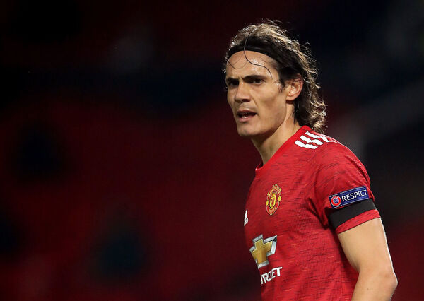Cavani at Old Trafford. Picture: Martin Rickett/PA Wire.