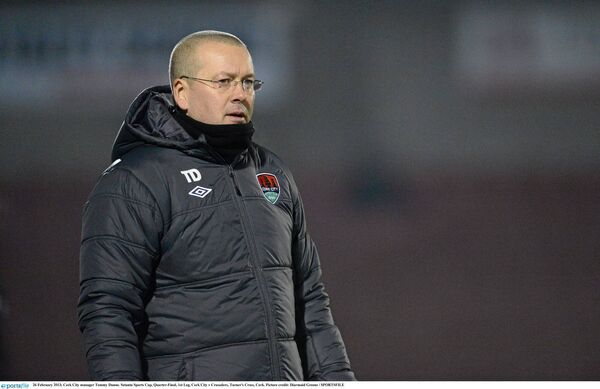 Former Cork City manager Tommy Dunne. Picture: Diarmuid Greene/SPORTSFILE