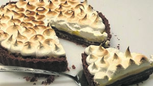 Recipe: Chocolate Orange Meringue Tart
