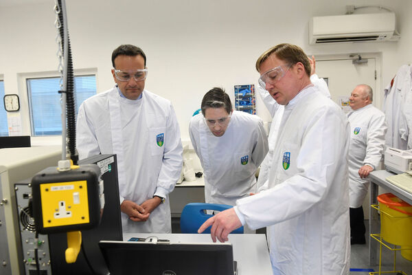 Former Taoiseach Leo Varadkar, visiting the National Virus Reference Laboratory, University College Dublin, earlier this year. Picture: Aidan Crawley/PA Wire