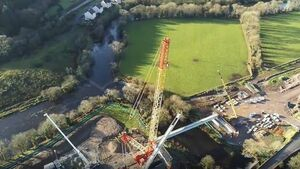 Longest concrete beams in Ireland and Britain placed over Cork river