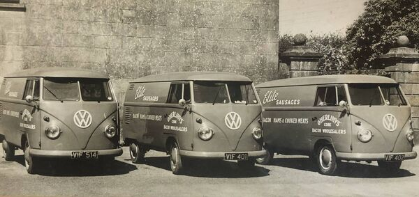 O'Herlihy's Butchers started with these three VW vans in 1961.