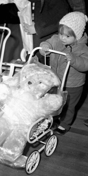 A child with a toy at the Munster Arcade in Patrick Street, Cork, in December, 1970 — 50 years ago
