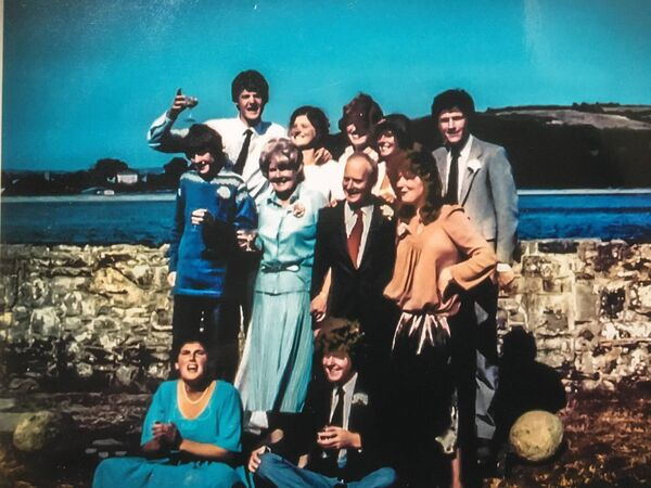 The Gowen family at a wedding in the family home in Youghal in 1979