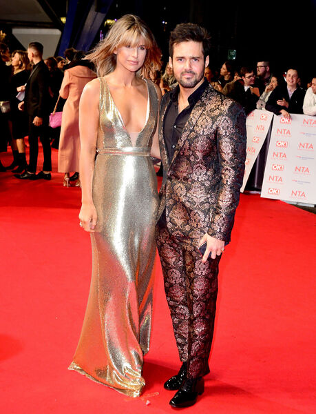 Model Vogue Williams and Made In Chelsea star Spencer Matthews. 	Pic: PA Wire
