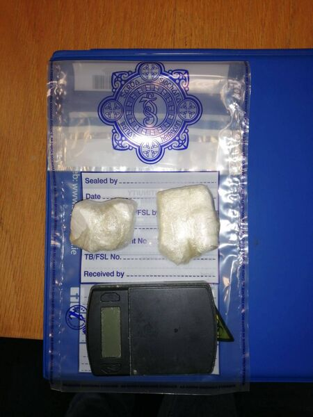 Cocaine seized in Cork city on December 27.