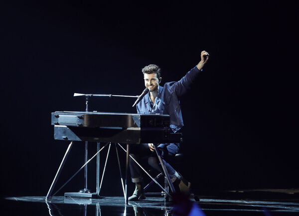Duncan Laurence of the Netherlands performs during the 2019 Eurovision Song Contest. Picture: AP Photo/Sebastian Scheiner