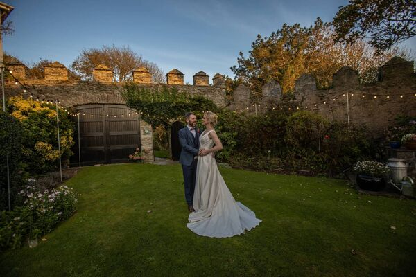 SOME DISRUPTION: The couple were due to get married earlier in the summer, but plans changed, due to Covid. They were wed instead in September.