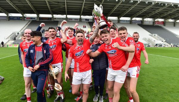 Charleville celebrate with the trophy. Picture: Dan Linehan