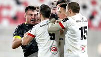 Tempers flair between Niall Scannell and John Cooney 2/1/2021
