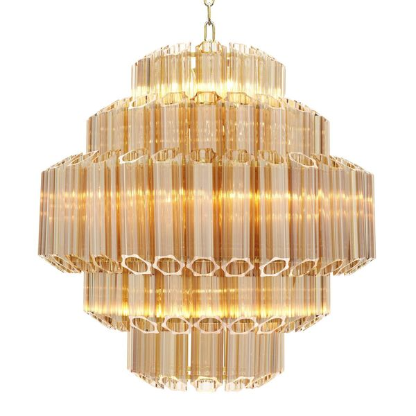 An Eichholtz Gold Vittoria Chandelier – Small  from Sweetpea & Willow.