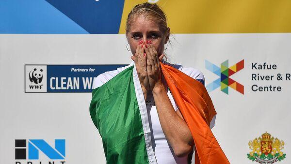 Sanita Puspure. Photo: Seb Daly / Sportsfile