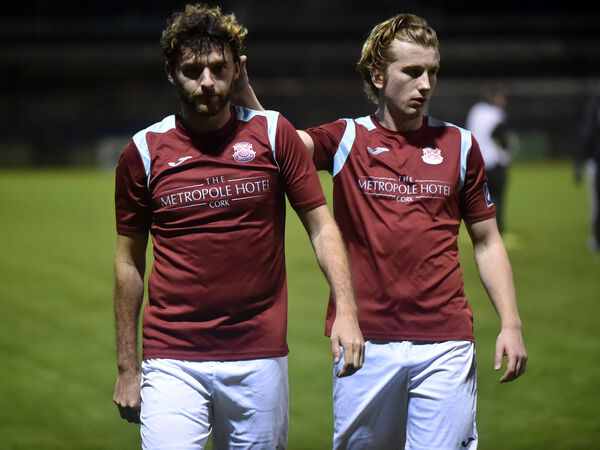 Disappointment for Cobh after their last game in 2020. Picture: Eddie O'Hare