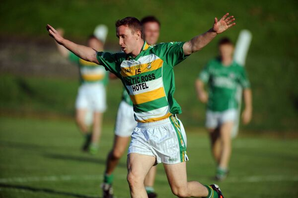 John Hayes celebrates a goal against Ballincollig. Picture: Eddie O'Hare
