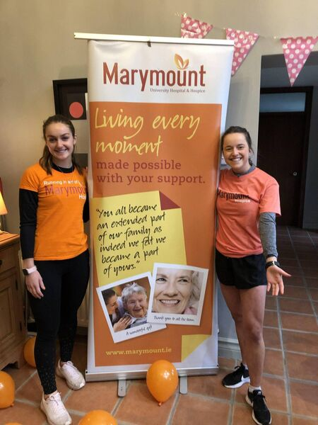 Alannah and Evie, back in 2020, fundraising for Marymount.