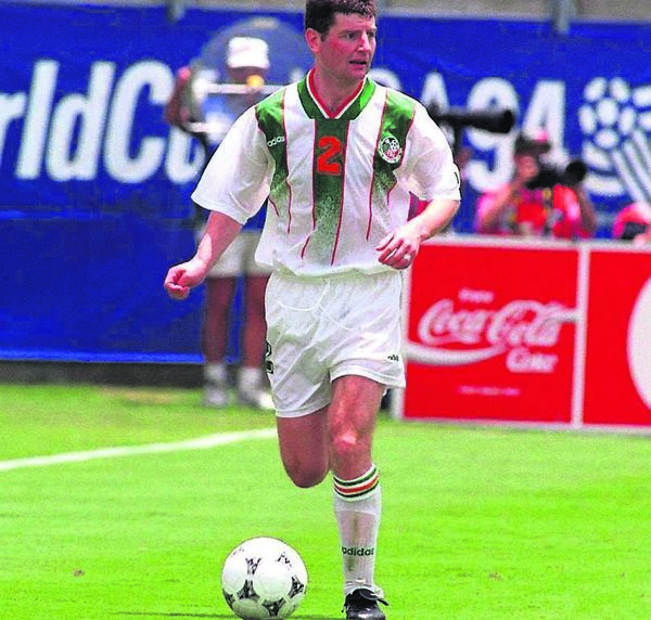 Denis Irwin at the World Cup in 1994 for the Republic of Ireland. Picture: David Maher/SPORTSFILE