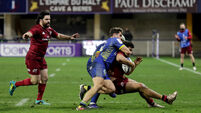 Damian de Allende is tackled by Damian Penaud 19/12/2020