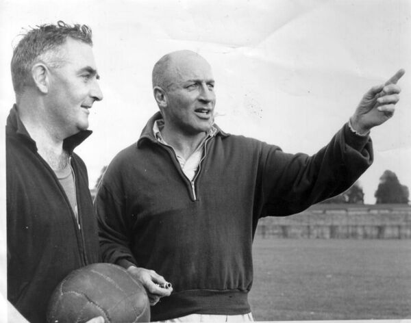 Eamonn Young and Donie O'Donovan in 1966, in a photo taken by a young Kevin Cummins.