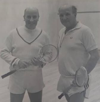 Eamonn Young and Christy Ring during a squash game.