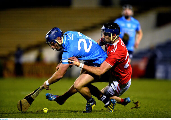 Davy Keogh of Dublin in action against Stephen McDonnell last season. Picture: Daire Brennan/Sportsfile