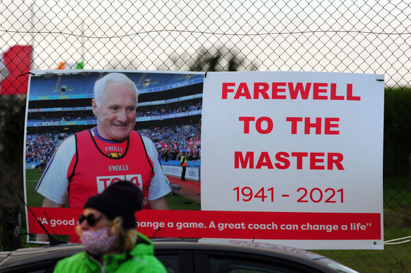 The sign on display as the funeral cortege passed Watergrasshill on Saturday. Picture: Eddie O'Hare