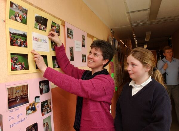 Teacher Sr. Margaret Daly and student Mandy Delaney, at the 40 years celebrations at Scoil Mhuire banrion, Mayfield.Picture: Richard Mills.