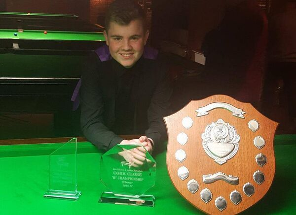 Aaron Hill won the first of his three consecutive Cork Close snooker titles at just 16 years of age.