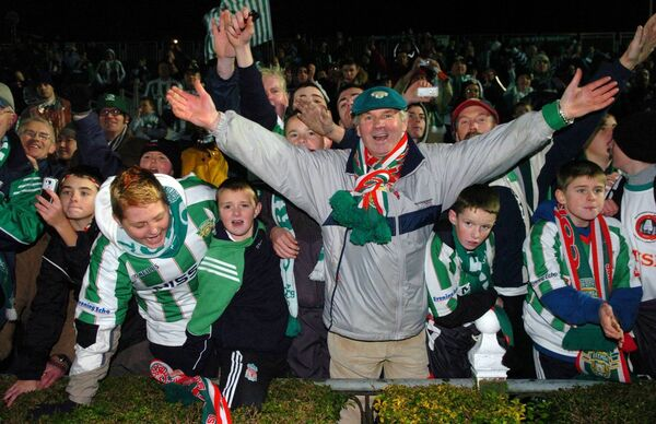 Cork City fan Finbarr O'Shea after defeating Longford Town during the FAI Cup final at the RDS. Picture: Eddie O'Hare