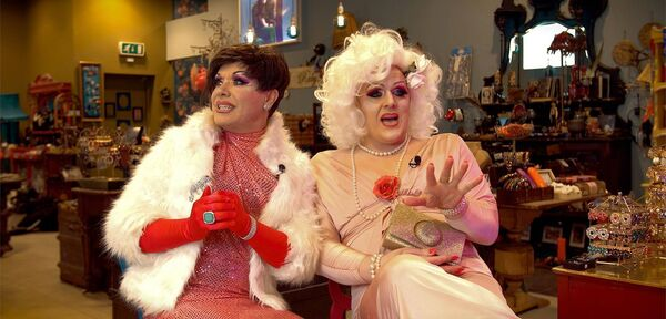 Drag artists KItty Cartier and Fabula Di Beaumarchais, who feature in the new documentary Dragging Up The Past.