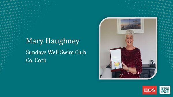 Mary Haughney with her national award.