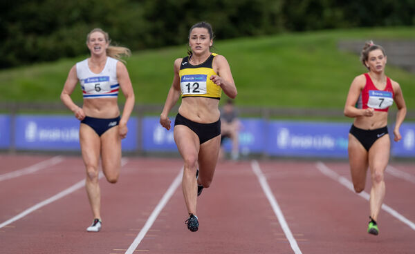 Bandon's Phil Healy wins the Women's 200m national final in Santry last summer.