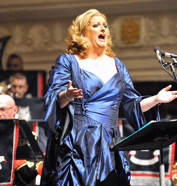 Cork soprano Cara O'Sullivan in fine voice during her performance at the Lord Mayor's Christmas concert in the City Hall in 2012. Picture: David Keane.