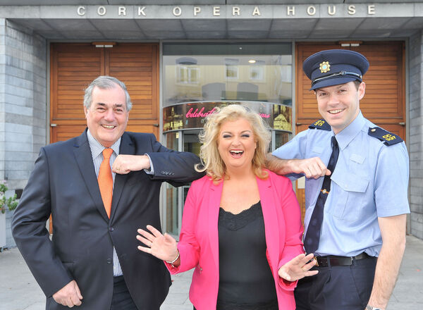 International soprano Cara O'Sullivan, with Garda Dan Cowman, chairman of the Friends of Marymount and broadcaster Ger Canning, attending the launch of the upcoming Marymount University Hospital & Hospice Concert at Cork Opera House, on Saturday October 17, 2015.