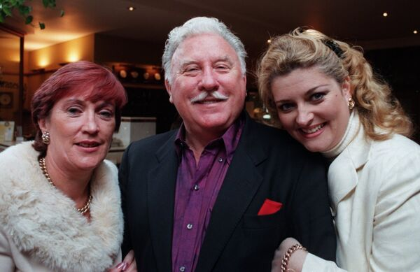 Actor Joe Lynch in good company with Millie Harrington, treasurer, and guest Cara O'Sullivan, at a Publicity Club lunch at Jury's Hotel. Photo: Richard Mills.