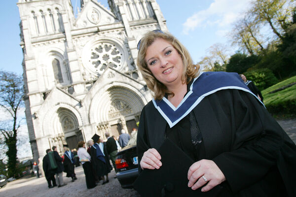Cara, who received a MA in Music at the Crawford College of Art & Design and Cork School of Music Conferrings at St Fin Barre's Cathedral. Pic: Neil Danton.