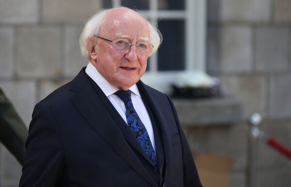 President Michael D Higgins signed the Health (Amendment) Bill 2020, which amended the Health Act 1947 to expand the penalties that can be applied to offences when restrictions are broken. Pic Stephen Collins/Collins Photos.