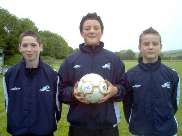The West Cork Schoolboys League's Skibbereen AFC representatives at the 2007 Umbro Kennedy Cup Rudi Henwood, Dan Mac Eoin, Patrick Rossiter.