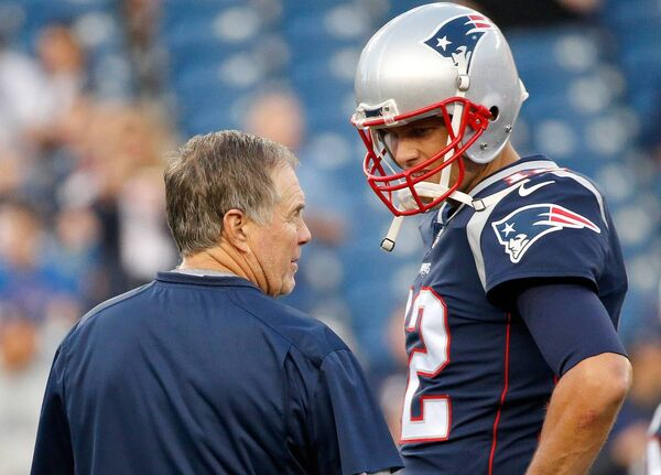 Bill Belichick and Tom Brady. Picture: Jim Rogash/Getty Images