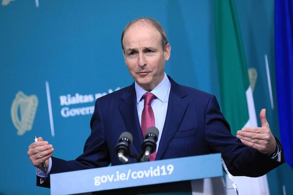 "Taoiseach Micheal Martin also expressed a cautious approach, indicating that he does not see a ""major reopening of the economy"" on March 5. PIC JULIEN BEHAL PHOTOGRAPHY"