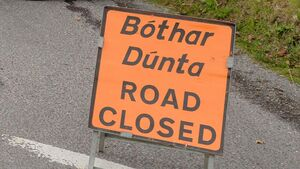 Road closed after partial building collapse in Cork town