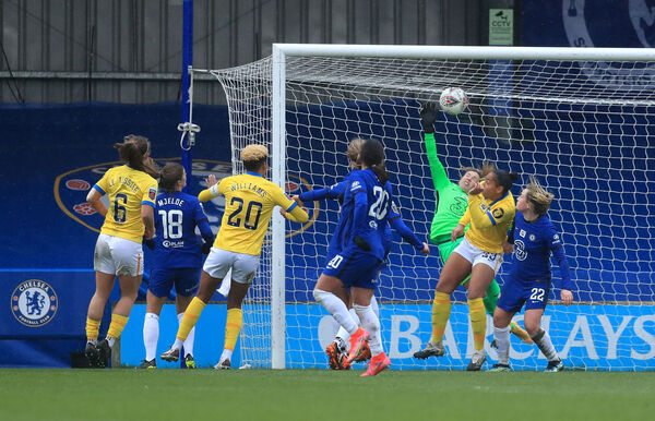 Brighton and Hove Albion's Megan Connolly (not pictured) scores their side's winner. Picture: Adam Davy/PA Wire.