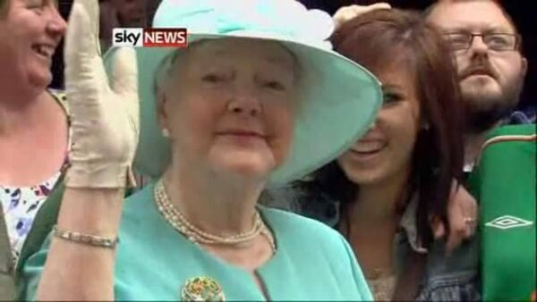 Pauline Bonner imitates the Queen on her visit to Cork.