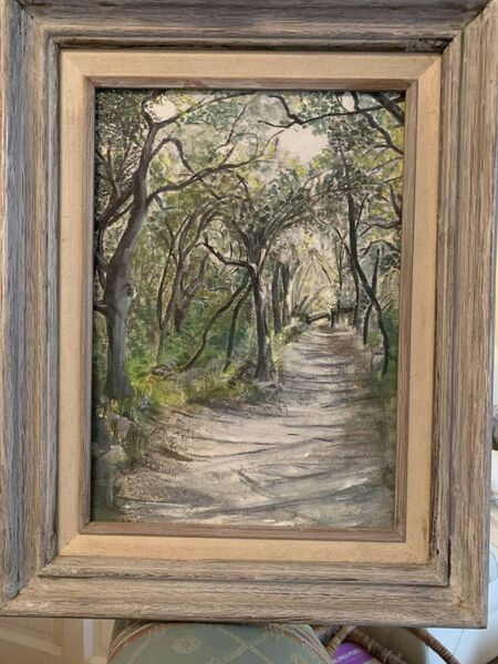 Hidden Path, a painting by great gran Pauline Bonner, aged 90.