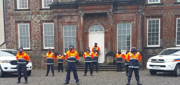 Cork North Civil Defence volunteers who took on the Jerusalema dance challenge over the weekend. Photo: Gerard Sheehan.