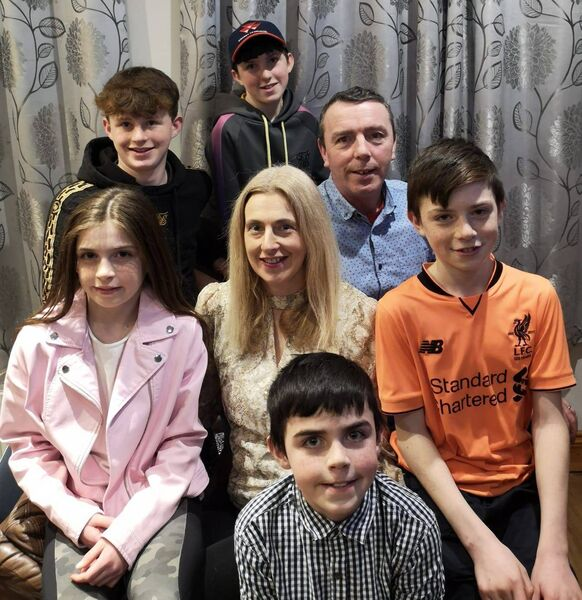 Mairead Coakley with her husband Colm, daughter Ashling, and sons Ronan, Donnacha, Cillian and Páraic