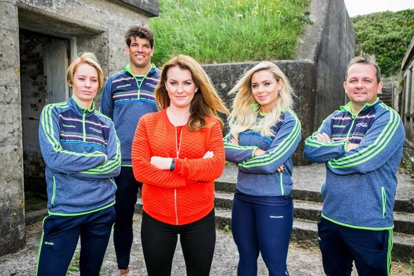 Irelands Fittest Family's Derval O'Rourke, Donncha O'Callaghan, Mairead Ronan, Anna Geary and Davy Fitzgerald.