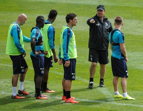 Former Newcastle United manager Rafael Benitez gives instructions at a training camp at Carton House, Kildare. Picture: Serena Taylor/Newcastle United via Getty Images