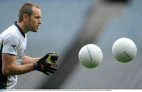 Australia's Daniel Cross training before an International Rules game at Croke Park. Picture: Brian Lawless/SPORTSFILE
