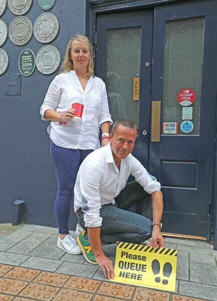 Mairead and Richard Jacob ahead of reopening back in July of last year. Picture: Jim Coughlan.